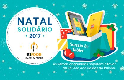 Junte-se ao nosso Natal Solidário: ajude a ReFood e habilite-se a ganhar um Tablet