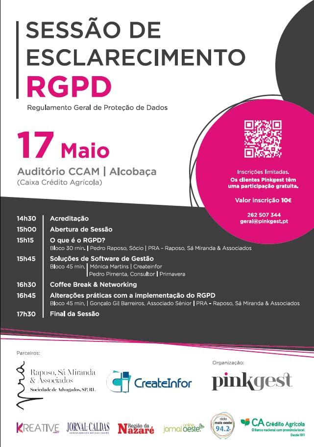 CreateInfor presente em sessão de esclarecimento sobre RGPD